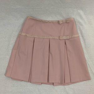 INC: Pink Plaid Bow Skirt
